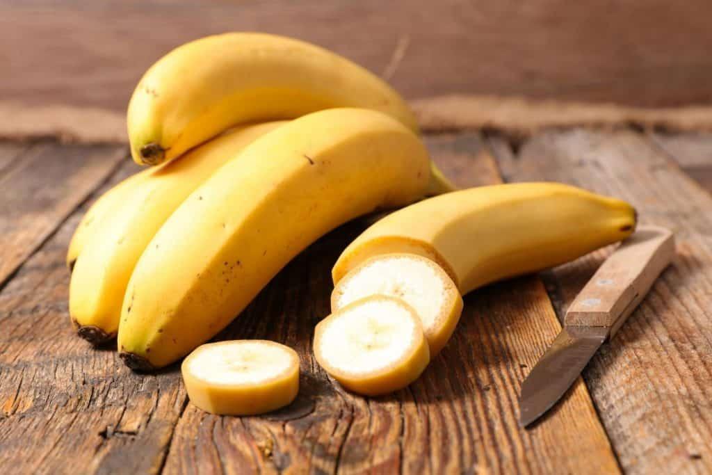banana cuts and a sharp knife