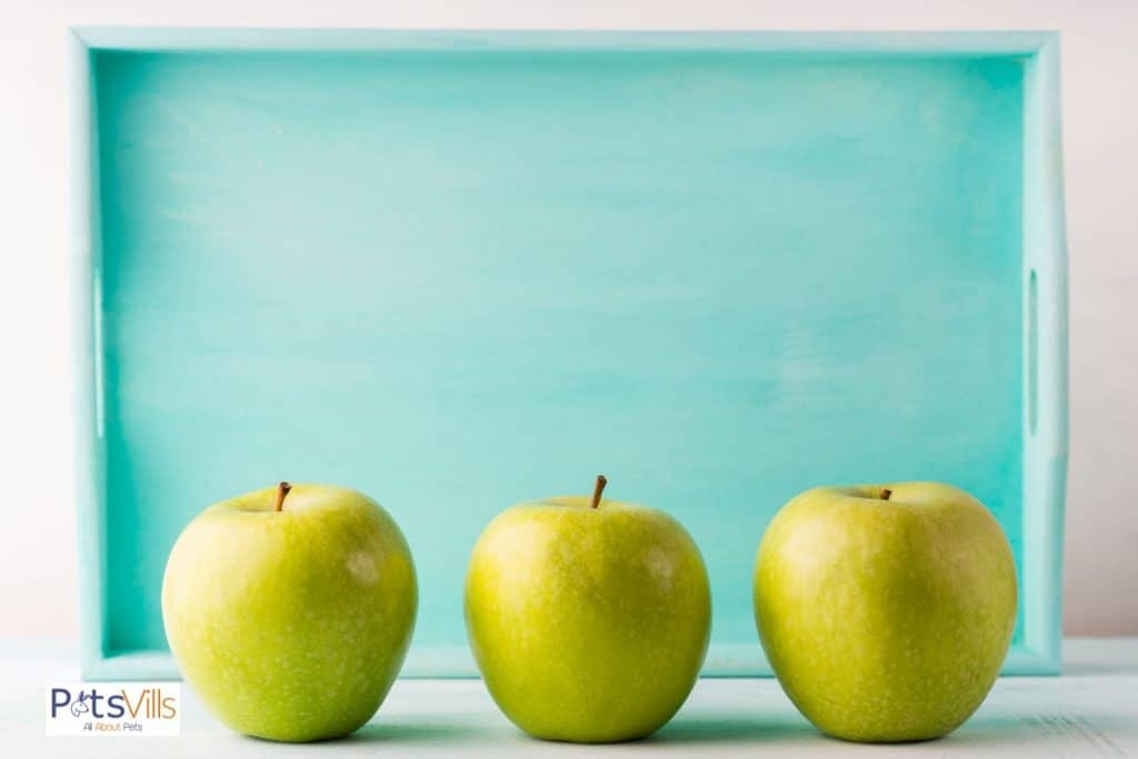 3 fresh green apples: can bearded dragons eat green apples?