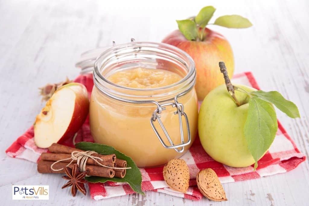 applesauce in a mason jar